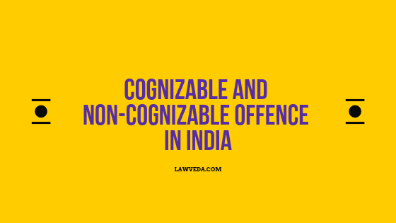 Cognizable and non cognizable